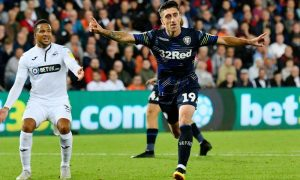 Pablo Hernandez scores for Leeds united against Swansea.