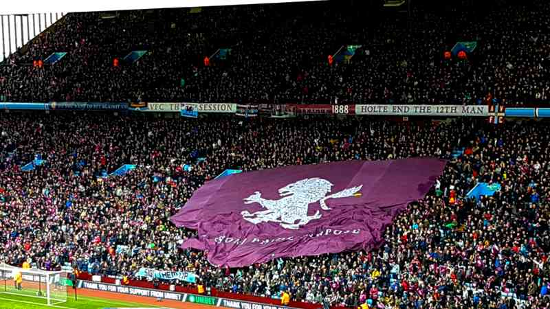 Aston Villa fans at Villa Park