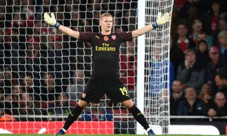 Bernd Leno at Emirates.